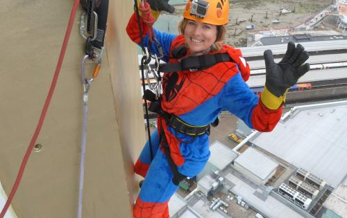 Freightbook President Abseils 100m to raise funds for The Dream Trust