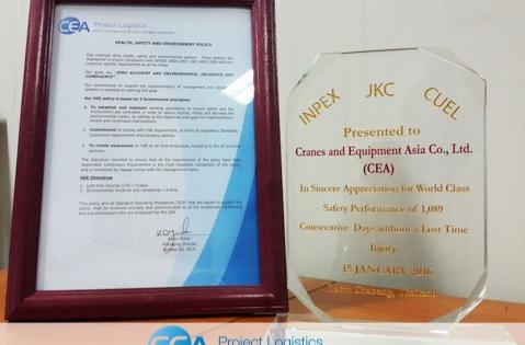 CEA's Safety Record Wins Another Award