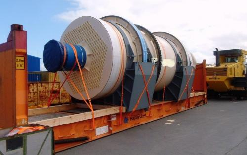 Intertransport GRUBER Move Heavy Heat Exchanger from Germany to the USA