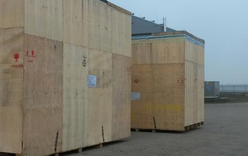 Intertransport GRUBER Complete Shipment of Lathe Machines in Crates