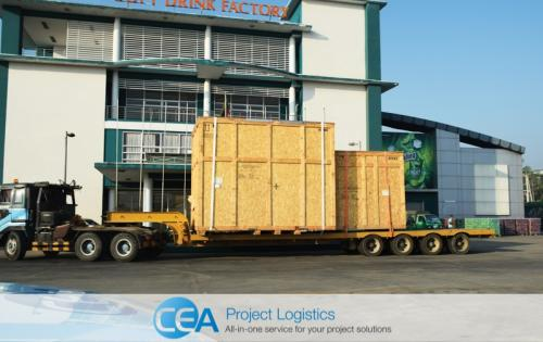 CEA Myanmar Handle Transport & Installation Project for Soft Drinks Factory