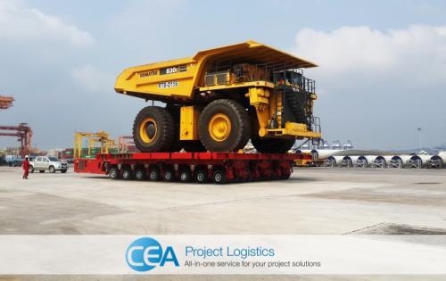 CEA Project Logistics Takes Care of Big Komatsu Trucks