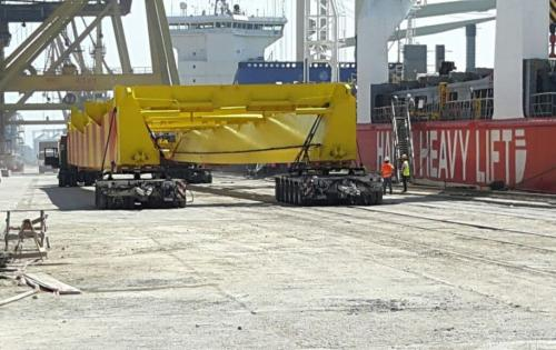 Veslam Shipping lead the Constructions of STS PACECO Crane in Constanta Port