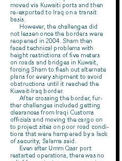 Capt. Shadi Salama of Sham Logistics Services Interviewed for Breakbulk Magazine