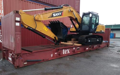 LCL Logistix with JCB Shipment from India to Ghana