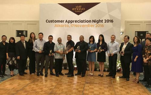 Trans Pacific International Logistics Win Etihad Cargo 'Top Customer Award 2016'
