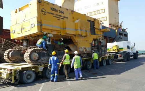 Turk Heavy Transport Receive Surface Miners in Bahrain