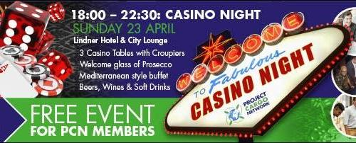 Project Cargo Network Casino Night on Sunday 23 April 2017
