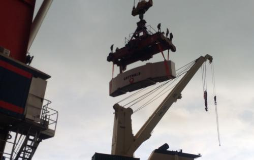 Alpha Handle Shipment of Shore Crane from Italy to South Korea
