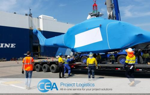 CEA Project Logistics with Specialised Transport of Helicopters
