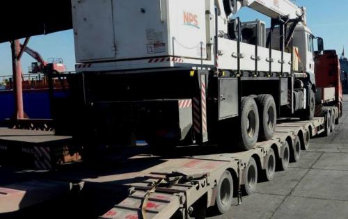Crane shipped from Erbil to Tunis by Headway Global in Turkey