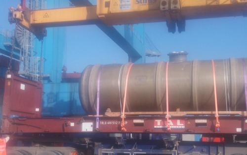Sovereign Logistics with Delivery of GRT Tank