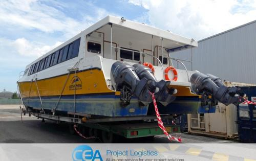 CEA Thailand with Transport & Export of Catamaran Ferry