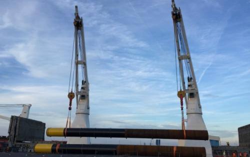 Europe Cargo Discharge Large Pipes for New Jetty