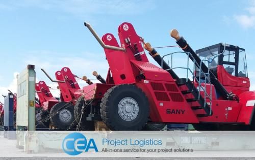 CEA Thailand Transport 8 Reach Stackers