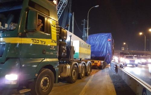Kamor Logistics Delivering Tunnel Boring Machines to Tel Aviv