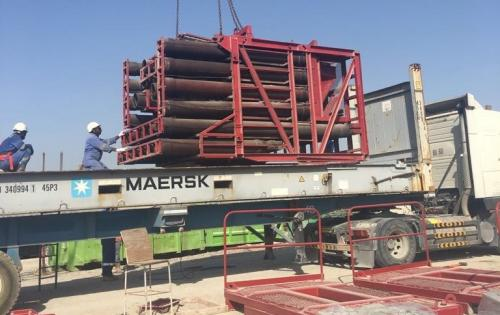 WSS UAE Handle Shipping of Construction Equipment