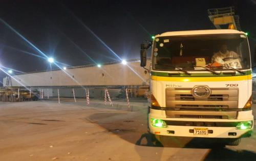 Turk Heavy Transport Complete Local Move of Long Concrete Beams