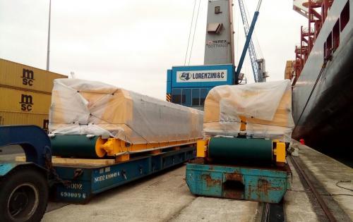 DC Logistics Brasil with Complete Ceramic Tile Polishing Machine Shipment