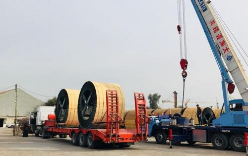 Al Nahrain Transport Large Cable Reels in Iraq