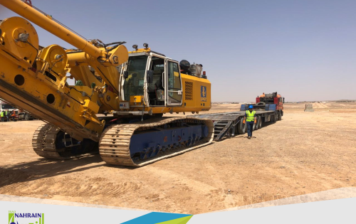 Al Nahrain Move CAT Excavator from Jordan to Saudi Arabia