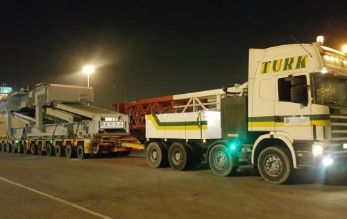 Turk Logistics Execute Transport of Oil Rig Equipment
