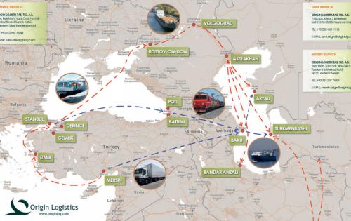 Origin Logistics with Transshipment of Cargo in Derince