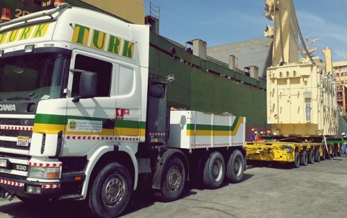 Turk Heavy Transport Complete Transformer Move to Zallaq