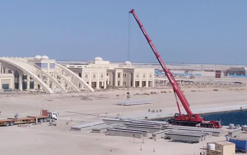 WSS UAE Handles Transportation of Precast Concrete Pontoons
