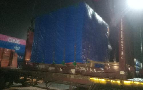 Green Channel with Another Delivery of Windmill Turbines