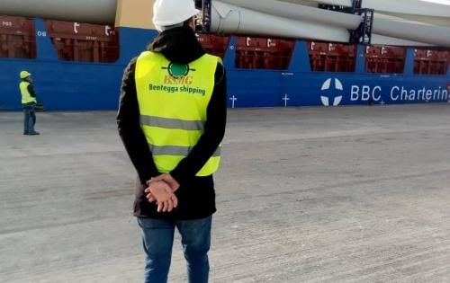 BSMG Deliver Wind Energy Cargo in Mauritania