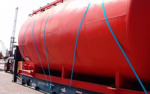 First Global Logistics with Transport of OOG Oil Tanks