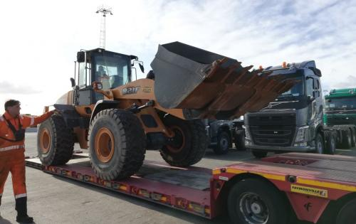 Livo Logistics with Another Shipment of Construction Machines