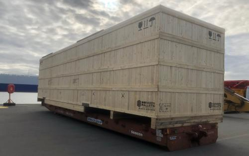 Europe Cargo Handle Shipping of Big 56tn Case