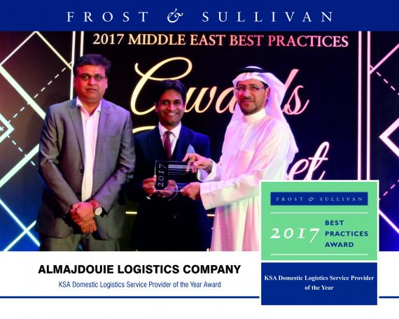 Almajdouie Recognised as 'Domestic Logistics Service Provider of the Year' by Frost & Sullivan