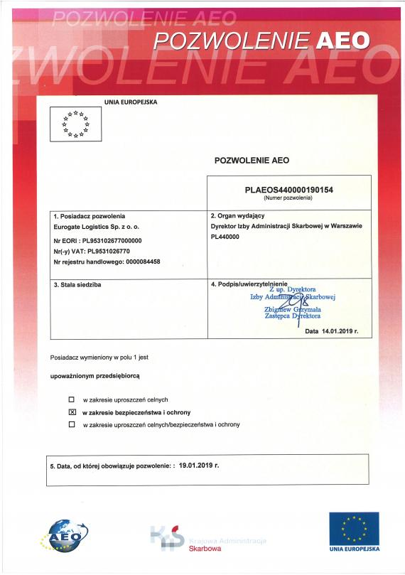 Eurogate Logistics Join Authorised Economic Operators Group