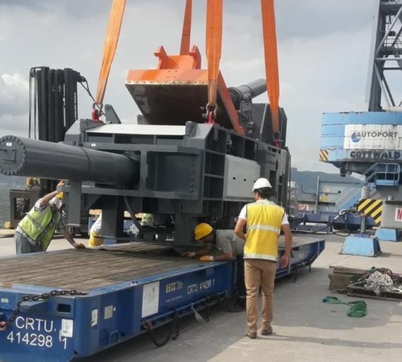 Origin Logistics Handle 40tn Cutting Machine in Turkey