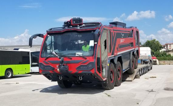 BATI Ships Fire Fighting Vehicles from Turkey to the Maldives