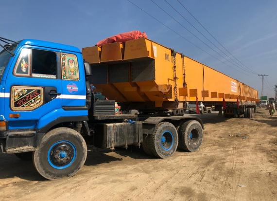 Star Shipping with Challenging Delivery of Extra-Long Girder