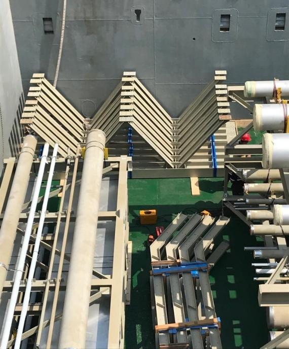 BATI Load 1,000tn of Project Cargo