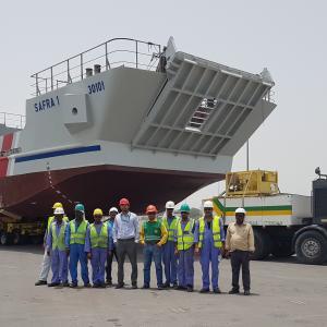 Impressive Movement of Massive Landing Craft by Turk Heavy Transport