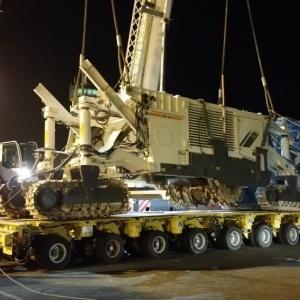 Turk Heavy Transport Move Surface Miner