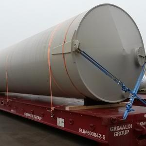 Intertransport GRUBER Arrange Transport of Large Tank from Germany to Egypt