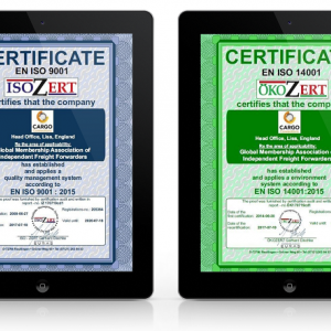 Renewal of Cargo Connections ISO 9001 and ISO 14001 Certification