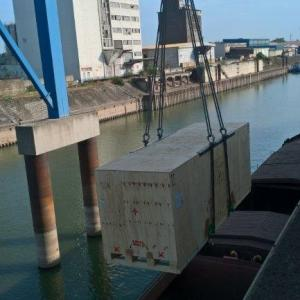 GRUBER Logistics Deliver by Barge in Germany