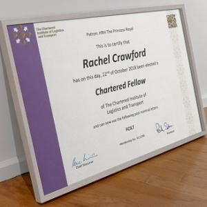 Rachel Humphrey elected a Chartered Fellow of CILT